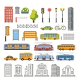 Transportation and City Traffic Infographics vector image