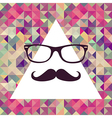 Vintage hipster face geometric pattern vector image vector image