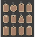 Vintage Style Sale Tags Design vector image