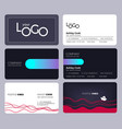 visiting cards business style office identity vector image