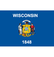 Wisconsin flag vector image vector image