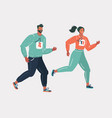 young people jogging vector image vector image