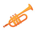 golden pipe for musical performances isolated flat vector image