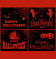 happy halloween collection on vector image