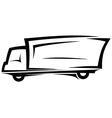 Delivery truck sketch vector image