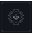 Royal luxury emblem vector image