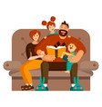 a happy family spends leisure time together at vector image vector image