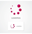 Abstract loading logo with business card template vector image vector image