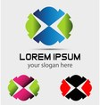 Abstract Logo Icon design element with business vector image vector image