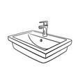 bathroom sink outline