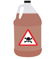 Bottle with biohazard and toxic symbol vector image