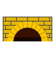 brick oven icon cartoon style vector image