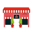 building store market isolated vector image vector image