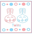 bunny twins vector image