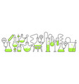 chemistry science horizontal banner education lab vector image vector image
