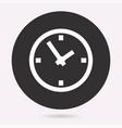 circular clock symbol vector image vector image