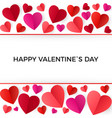 colorful red paper hearts happy valentines day vector image