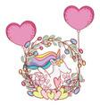 cute unicorn cartoons vector image vector image