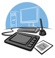 digital graphic tablet vector image