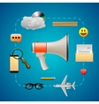 Digital marketing infographic speaker and icons vector image