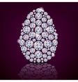 Easter egg diamond vector image