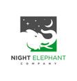 elephant logo design vector image vector image