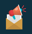 email megaphone message speak social network vector image