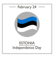 Estonia Independence Day vector image vector image