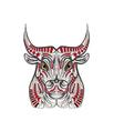 ethnic bull vector image vector image