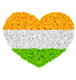flag india shape of heart flower garland mala vector image vector image