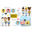 flat multiracial people set vector image vector image