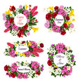 flowers for save the date cards vector image