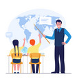 geography student and teacher at school child vector image
