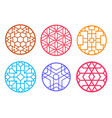geometric round chinese pattern window frame vector image vector image