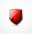 gold and red shield vector image vector image