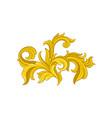 golden baroque pattern floral ornament