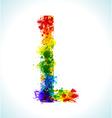 Gradient splashes font vector image