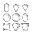 halloween geometric frames vector image