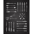 Hand Drawn Arrows on Chalkboard Design