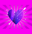happy valentines day heart with arrow vector image