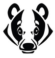 head of european badger vector image