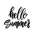 hello summer lettering phrase on white background vector image