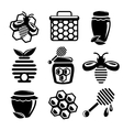 Honey icons set vector image vector image