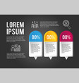 infographic business data plan information vector image vector image