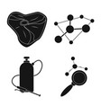 isolated object of and sign set of and s vector image