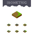 isometric road set of asphalt navigation vector image vector image