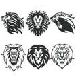 lion logo package premium design collection set vector image vector image