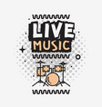 live music in the concert design with set vector image