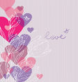 Love background with hearts vector image vector image