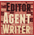 Low Cost Ways To Meet Agents Editors text vector image vector image